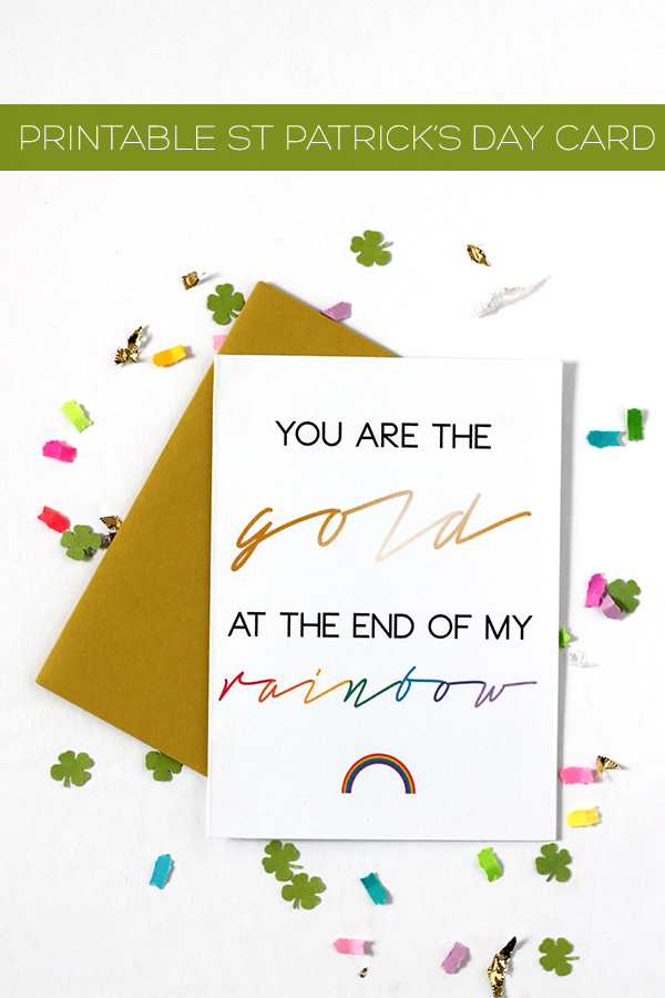 Printable-st-patricks-card-from Squirrelly Minds