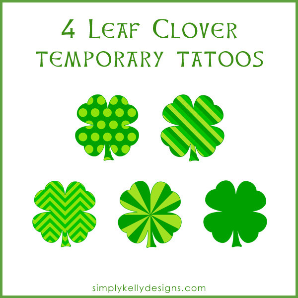 SimplyKellyDesigns_4LeafCloverTemporaryTattoos