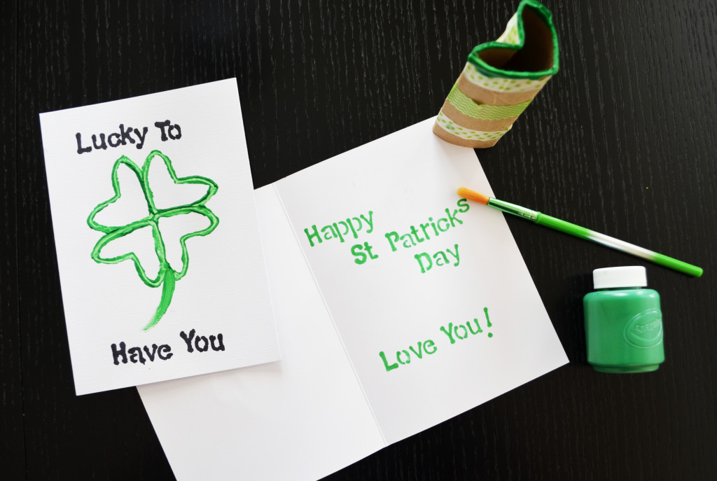 Stamped four-leaf-clover card from Whisking Mama