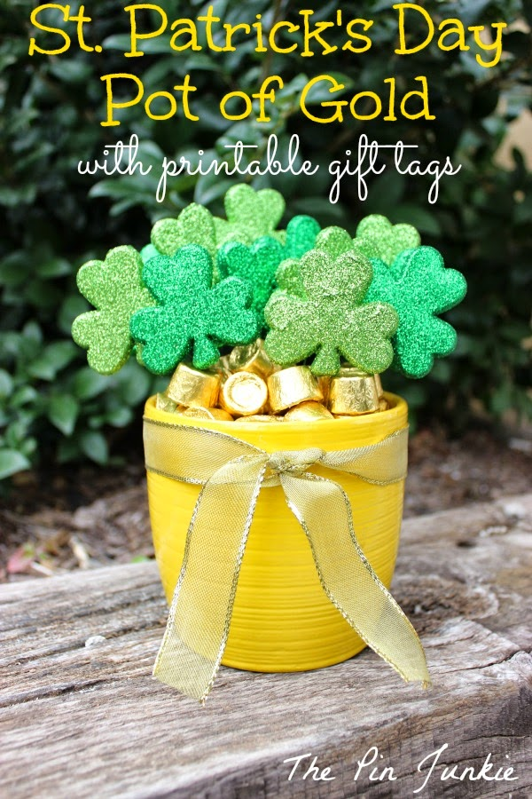 st patricks day pot of gold gift tags from The Pin Junkie