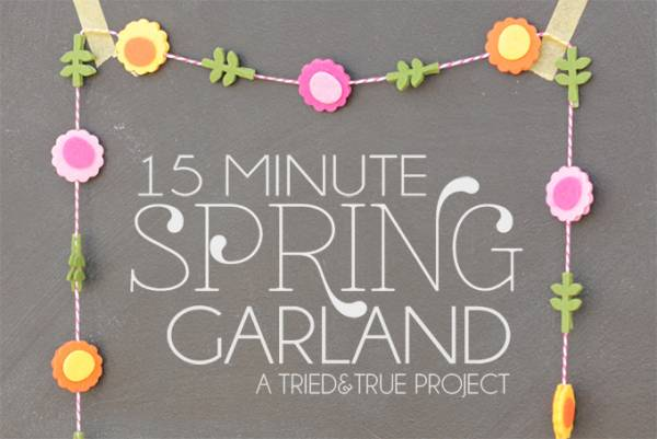 Tutorial - 15 Minute Spring Garland