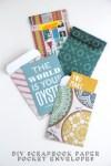 Gathering Beauty: Diy Scrapbook Paper Pocket Envelopes.
