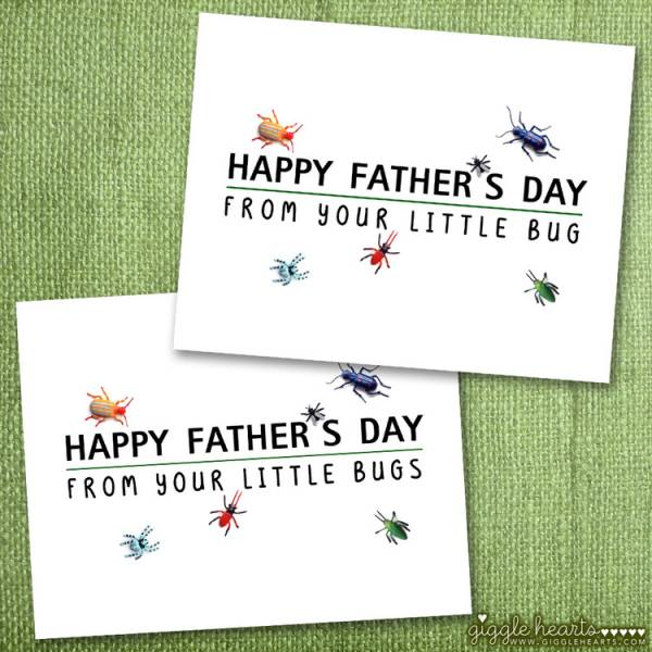 Free Printable Little Bugs Father's Day Card - Giggle Hearts