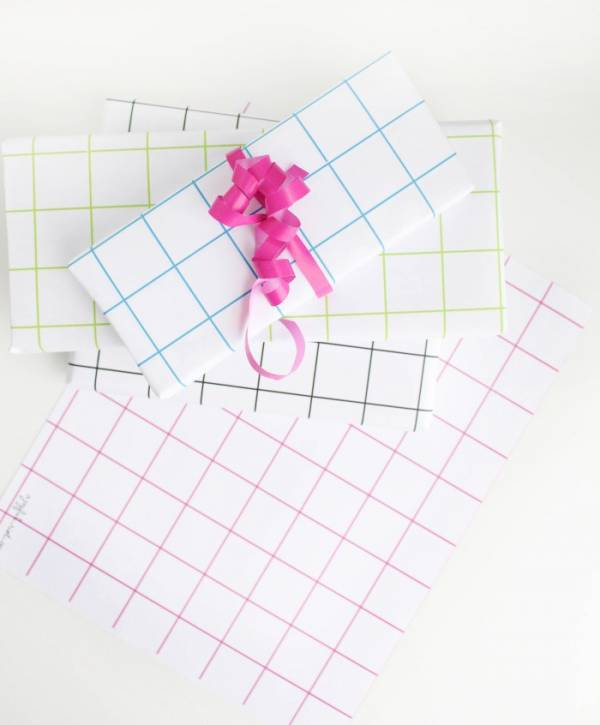 grid wrapping paper from A joyful riot