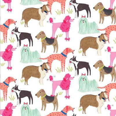 Anna Griffin Dog Breeds 12 x 12 Scrapbook paper