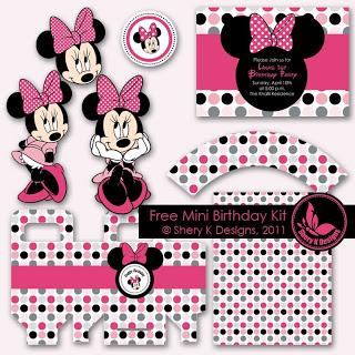 Minnie Mouse Digital Birthday Kit
