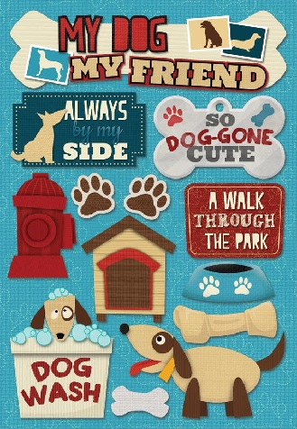 My Dog My Friend Cardstock Scrapbooking Stickers