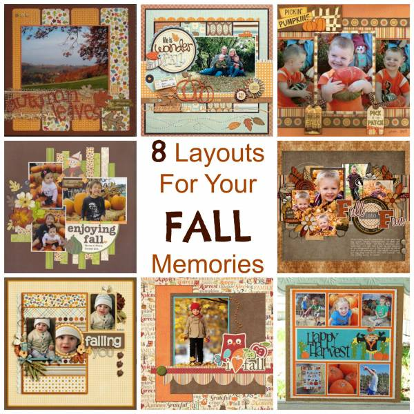 scrapbooking craft ideas 8 layouts for your fall memories scrap booking 2887