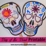 Free Day of the Dead Printable Masks to Color