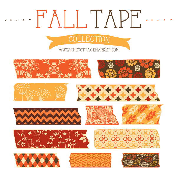 graphic about Free Printable Washi Tape identify Absolutely free Tumble Electronic Washi Tapes S Reserving
