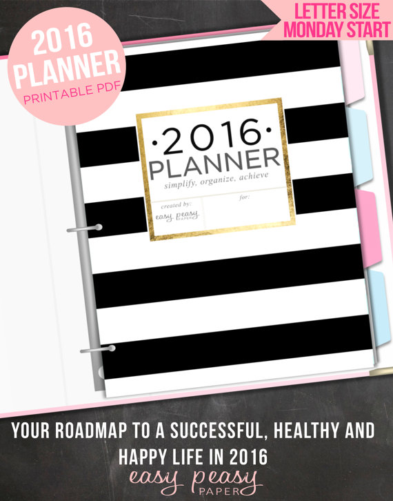 2016 Planner by Easy Peasy