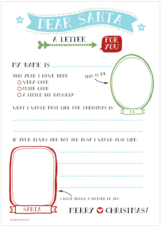Free Letter to Santa from Wink Design