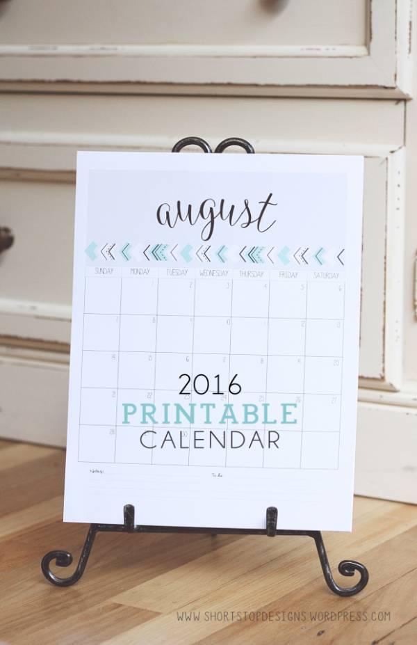 calendar-2016 - Short stop designs