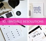 10 Printable New Year's Resolutions