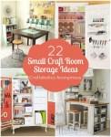 22 Small Craft Room Storage Ideas