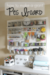 How to Make a Giant Peg Board for Craft Storage