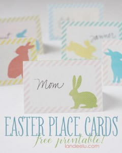 Free Easter Place Cards