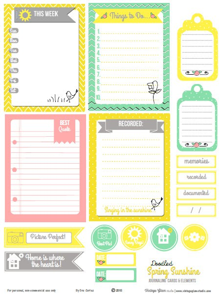 photograph about Free Printable Journaling Cards identified as Absolutely free Spring Solar Journaling Playing cards S Scheduling