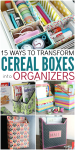 15 Ways To Transform Cereal Boxes Into Scrapbook Organizers