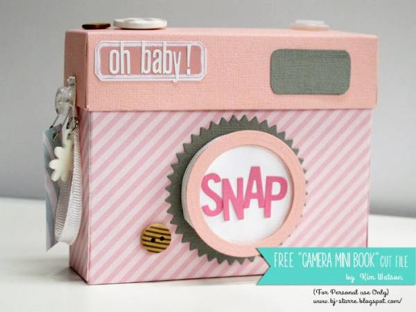 Kim Watson+Pink Camera mini FREE cut file