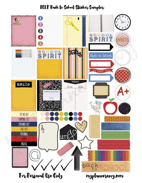free planner printable back to school stickers scrap booking