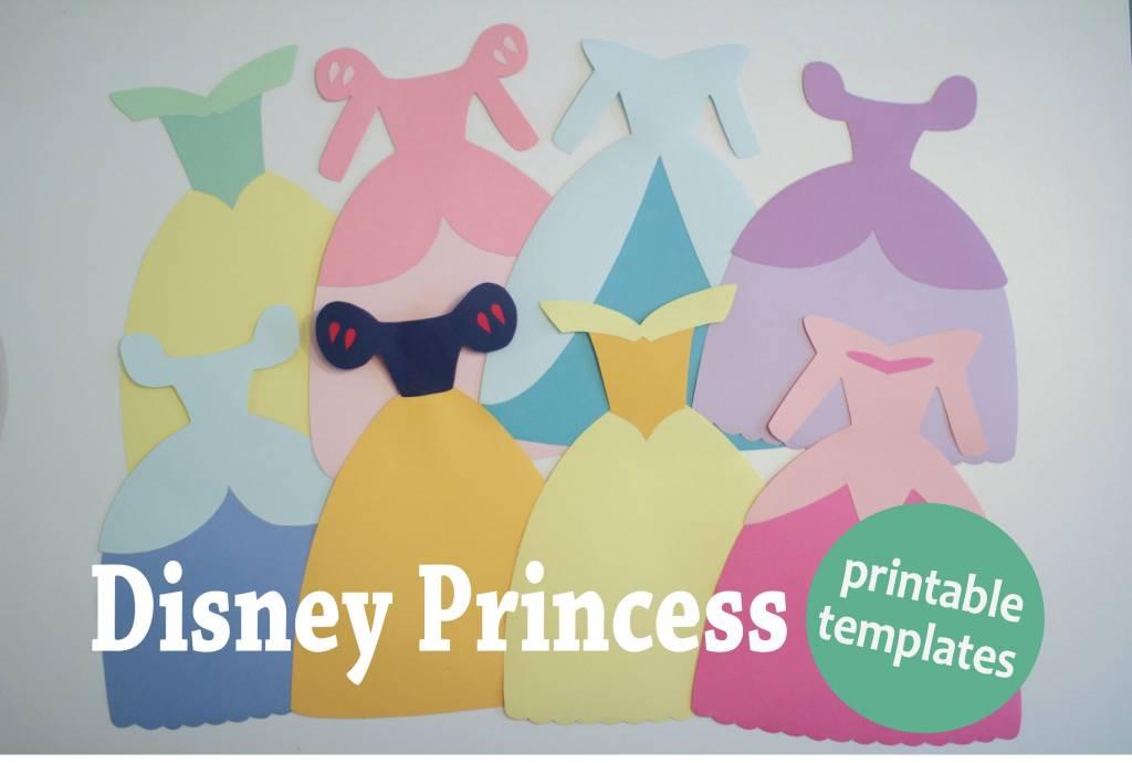 Free Disney Princess Dress Paper Templates – Scrap Booking