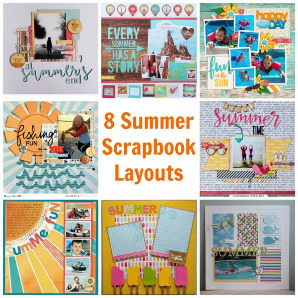 8 Summer Scrapbook Layouts Scrap Booking