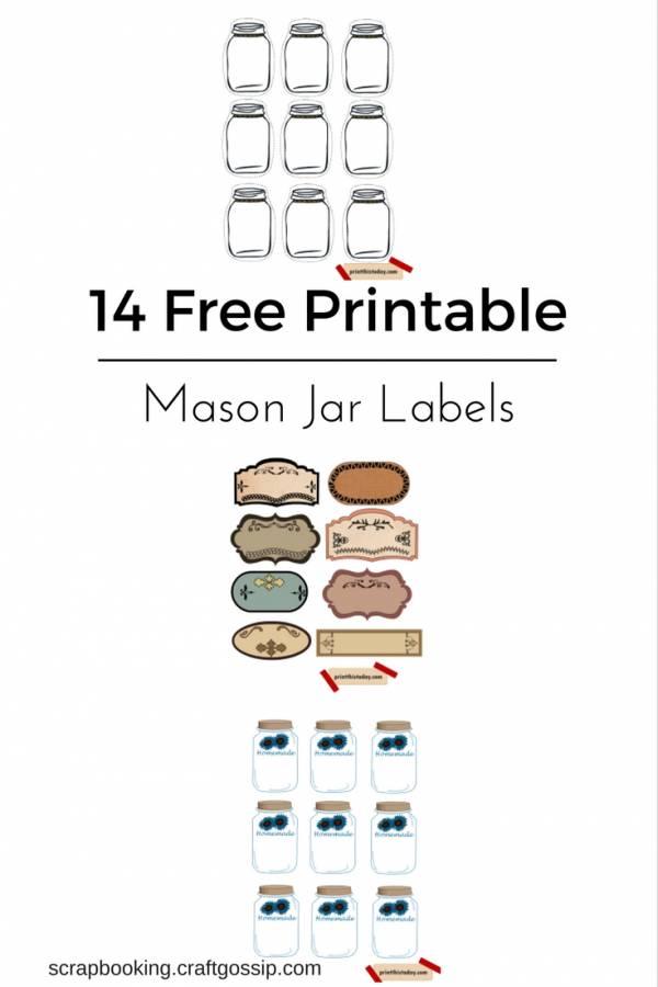 photo regarding Free Printable Jar Labels called 14 Cost-free Printable Mason Jar Labels Tags S Reserving
