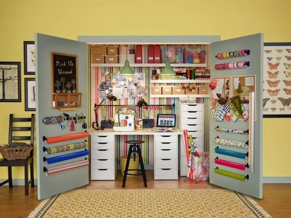 How to Create an Ikea Closet Craft Room Scrap Booking