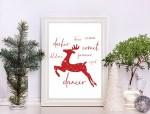 Free Reindeer Christmas Printable