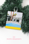 DIY Photo Christmas Tree Ornaments