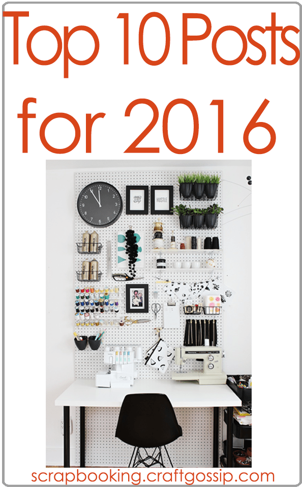 Top 10 Scrapbooking Posts for 2016