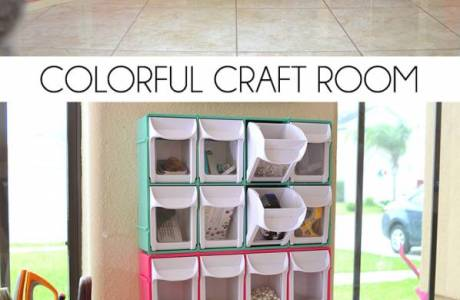 Colorful Craft Room Storage & Decor