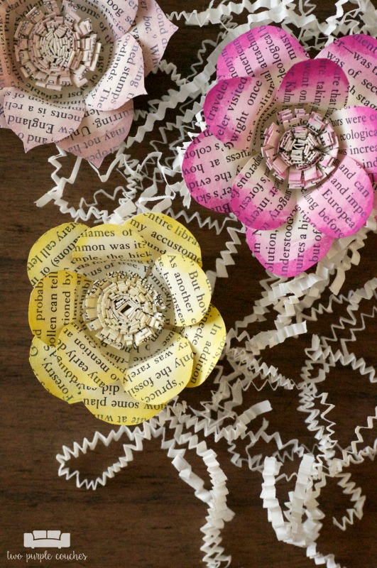 Tutorial Book Page Flowers Scrap Booking