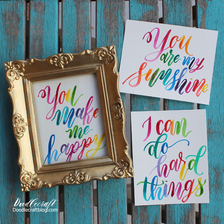 Diy Waterbrush Ombre Calligraphy Lettering Scrap Booking