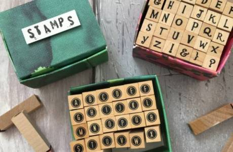 DIY Alphabet Stamp Storage