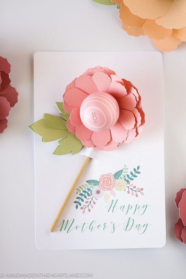 Mother Day EOS Flower Gift Printable Card