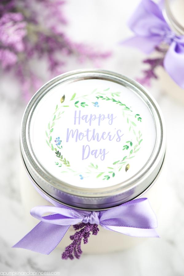 Printable Mother Day Mason Jar Tag