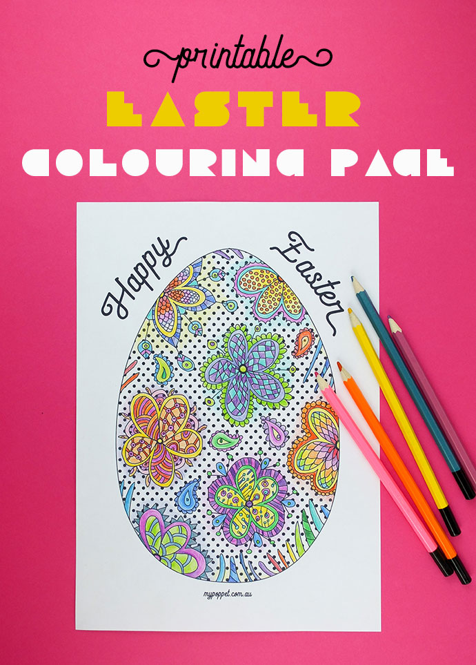 2 Printable Easter Coloring Pages to Download – Scrap Booking