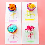 How To Make Tissue Paper Flower Cards