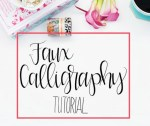 Faux Calligraphy Tutorial, Step by Step
