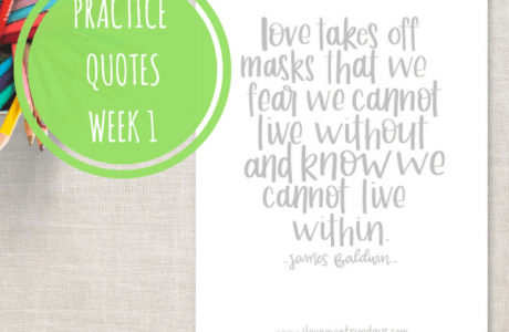 Printable Lettering Practice Quotes