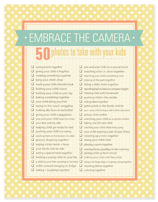 Mother Day Printables Embrace the Camera