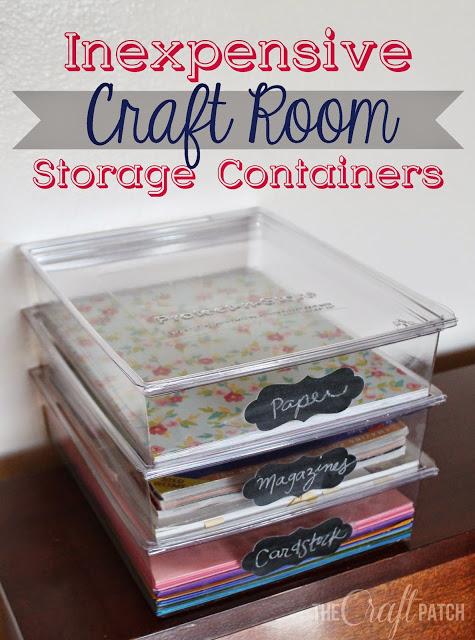 Inexpensive Craft Room Storage