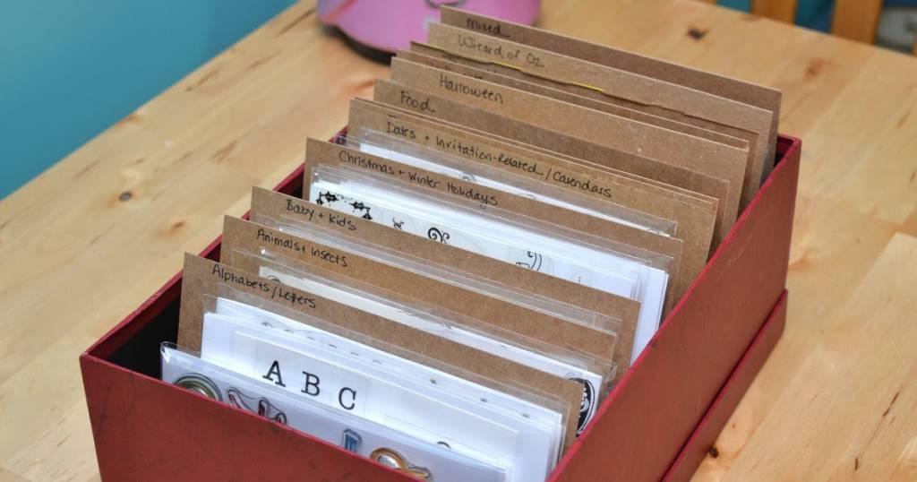 Get Organized Clear Stamp Storage