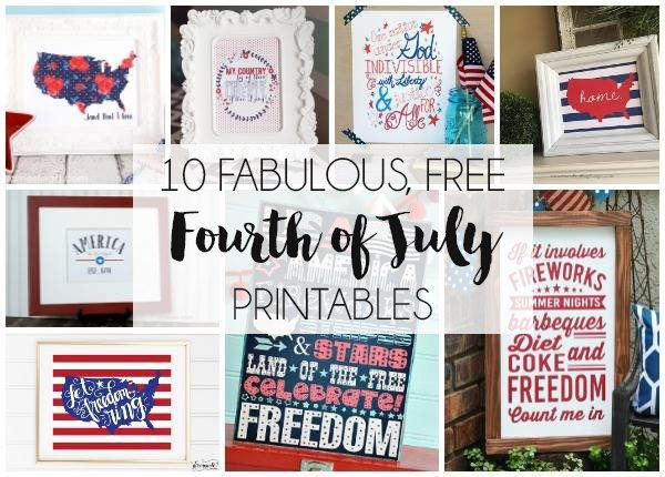 10 Printables for the Fourth of July