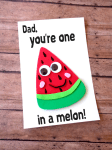DIY Father's Day Watermelon Card with Printable Template