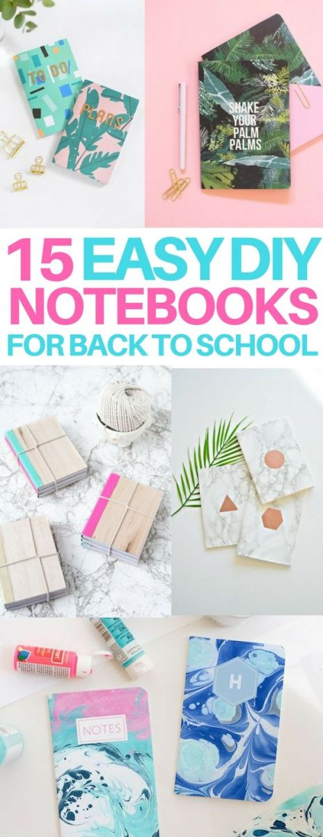 3 Easy Diy Storage Ideas For Small Kitchen: 15 DIY Notebook Ideas For Back To School And Scrapbook