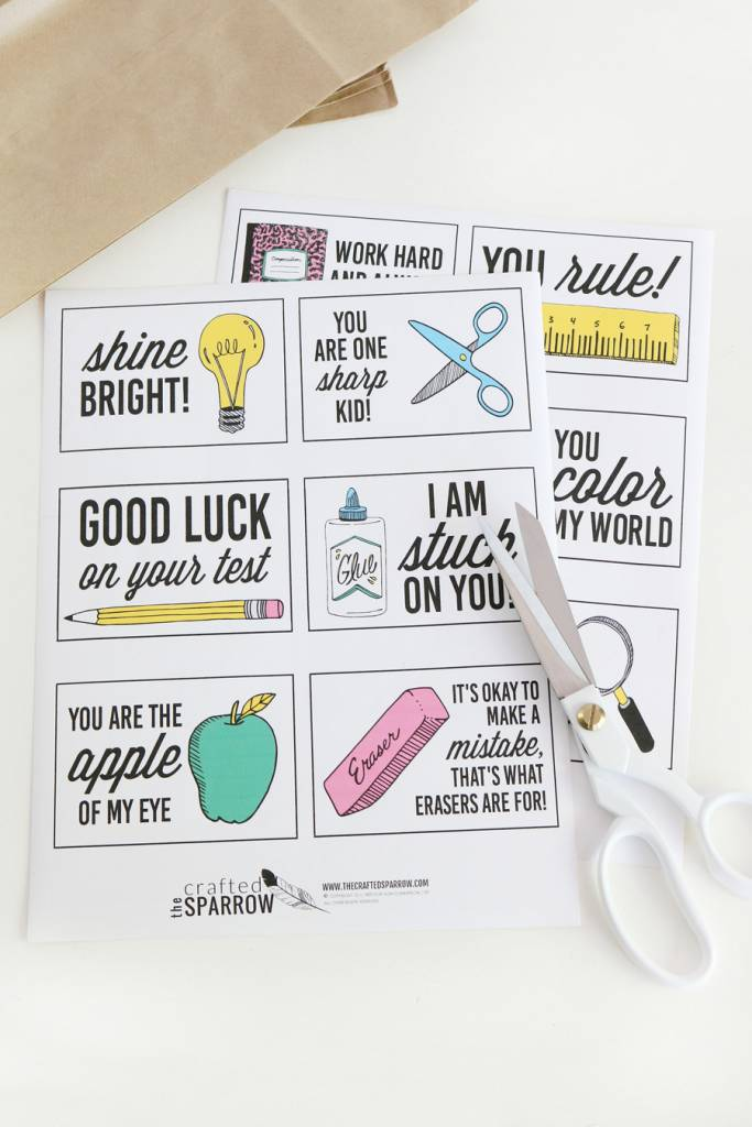 Back to School Printable Lunchbox Notes – Scrap Booking