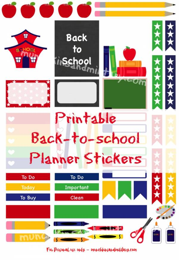 Get it at munchkins and military printable back to school planner stickers